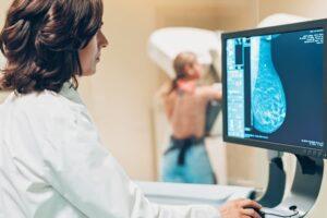Radiologist Reviews 3D Mammogram